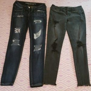2 pairs American Eagle jeggins